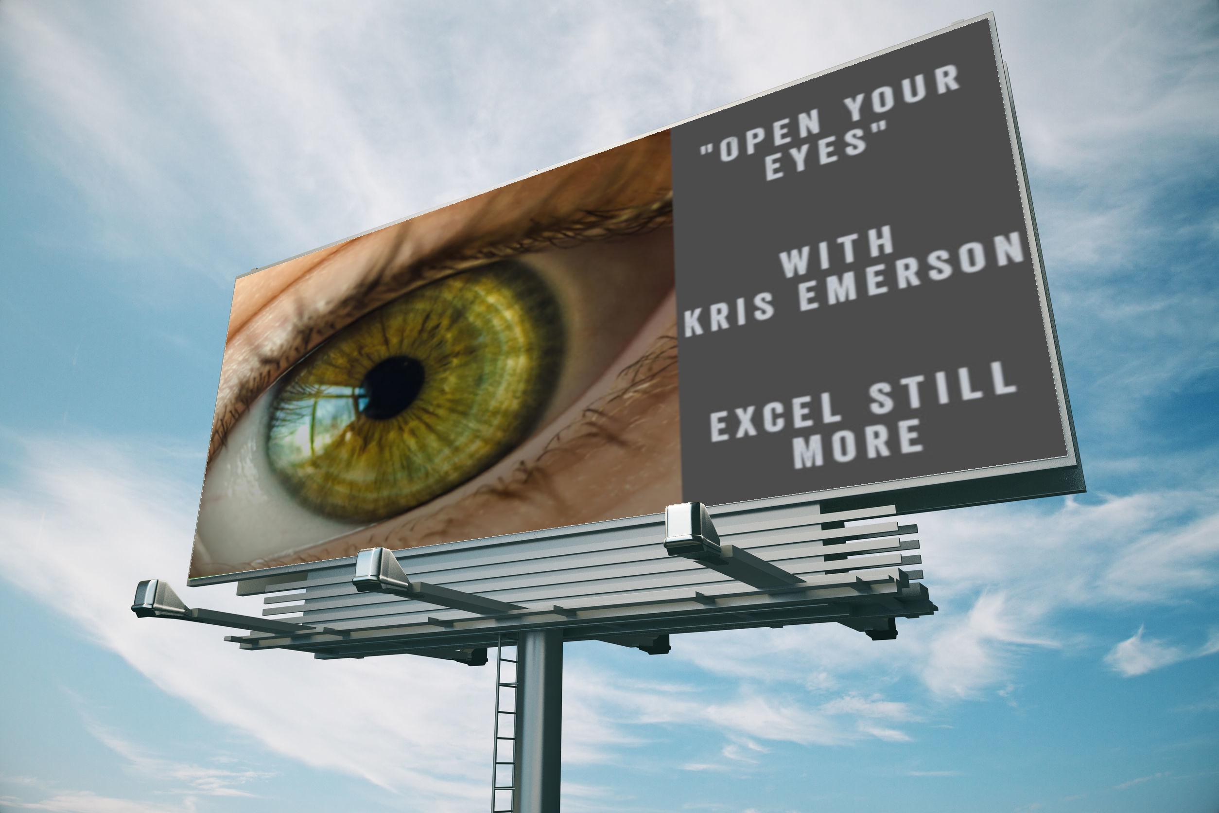 Open Your Eyes - Bill Board